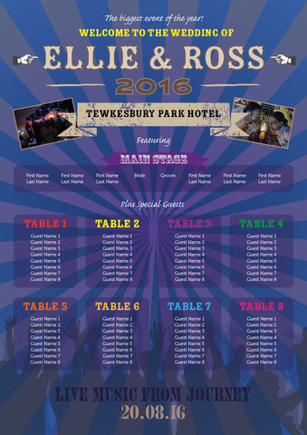Music Festival Table Plan